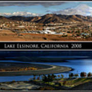 Lake Elsinore  180 Degrees Art Print