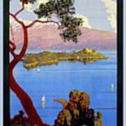 Lake Garda 1920s French Art Print