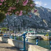 Lake Garda Harbour Of Limone Sul Garda Art Print