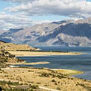 Lake Hawea In New Zealand Art Print