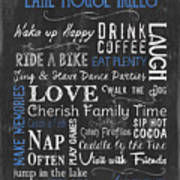 Lake House Rules Art Print