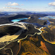 Lake In An Old Volcanic Crater Or Art Print