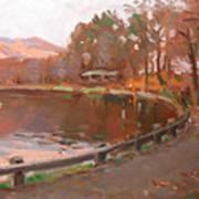 Lake In Bear Mountin Art Print