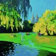 Lake In Central Park Ny Art Print