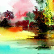 Lake In Colours Art Print