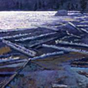 Lake In Moonlight Art Print