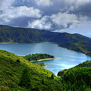 Lake In The Azores Art Print