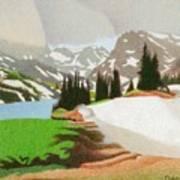 Lake Isabelle Storm Art Print