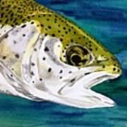 Lake Leopard Art Print