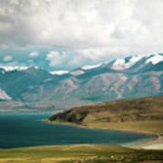 Lake Manasarovar Kailas Yantra.lv Tibet Art Print