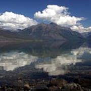 Lake Mcdonald Reflection Glacier National Park Art Print