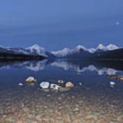 Lake Mcdonald Rocks Art Print