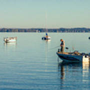 Lake Mendota Fishing Art Print
