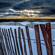 Lake Mi Sunset 15 Art Print