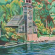 Lake Michigan Old Lighthouse Art Print