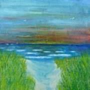 Lake Michigan Sunrise 02132016 Art Print