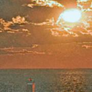 Lake Michigan Sunset. Art Print