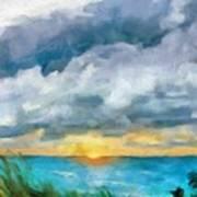 Lake Michigan Sunset Art Print