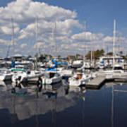Lake Monroe At The Port Of Sanford Florida Art Print