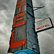 Lake Motel Art Print