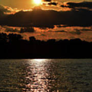 Lake Murray Golden Hour Art Print