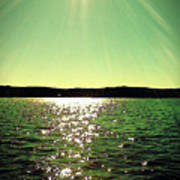 Lake Murray Sun Art Print