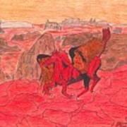 Lake Of Fire Art Print