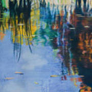 Lake Pearl Reflections Art Print by Lucinda  Hansen