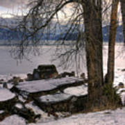 Lake Pend D'oreille At Humbird Ruins 1 Art Print