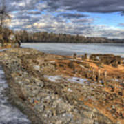 Lake Pend D'oreille At Humbird Ruins 2 Art Print
