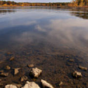 Lake Pomme De Terre In October Art Print