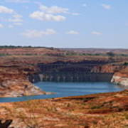 Lake Powell And Glen Canyon Dam Art Print