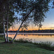 Lake Quannapowitt At Sunset Art Print