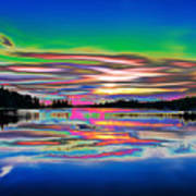 Lake Reflections 3 Art Print