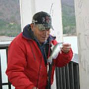 Lake Sardis Fisherman Art Print