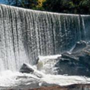 Lake Sequoyah Dam Falls - Highlands, North Carolina Art Print