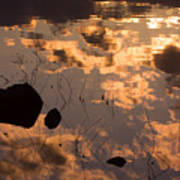 Lake Sunset Reflections Art Print