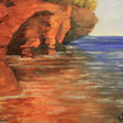 Lake Superior Cave Art Print