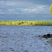 Lake Superior Shoreline After A Brief Storm Art Print