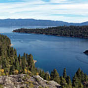 Lake Tahoe Emerald Bay Panorama Art Print