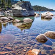 Lake Tahoe Rocks Art Print