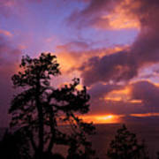 Lake Tahoe Sundown 2 Art Print