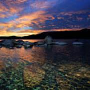 Lake Tahoe Sundown Art Print
