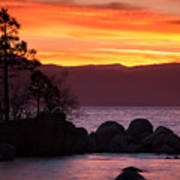 Lake Tahoe Sunset Colors Art Print