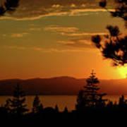Lake Tahoe Sunset Art Print