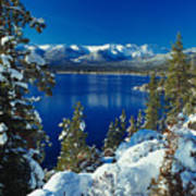 Lake Tahoe Winter Art Print by Vance Fox