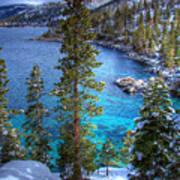 Lake Tahoe Winterscape Art Print