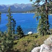 Lake Tahoe With Mountains Art Print