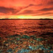 Lake Tahoe...blood Moon Sunset Art Print