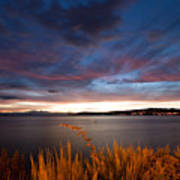 Lake Taupo Sunset Art Print